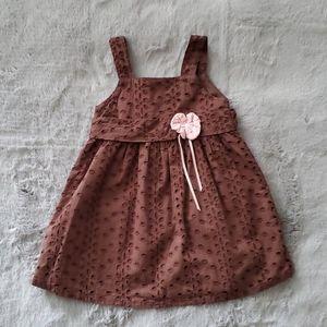 Kids Headquarters Brown Dress 2T
